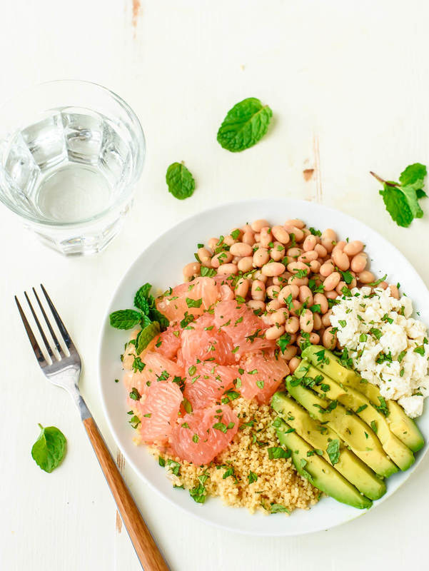 Avocado Couscous Grapefruit Salad