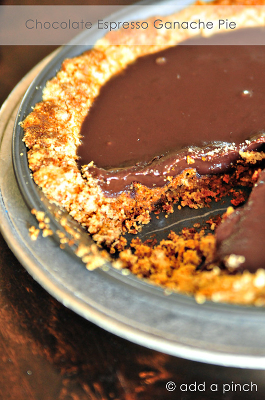 Chocolate Espresso Ganache Pie Recipe
