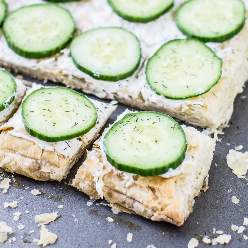 Cucumber Sandwiches with Dill Cream Cheese