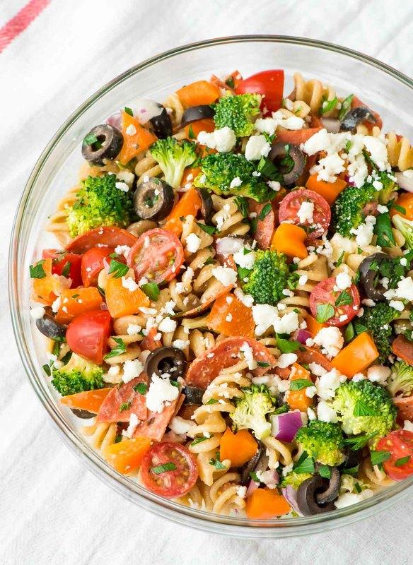 Healthy Pepperoni Pasta Salad