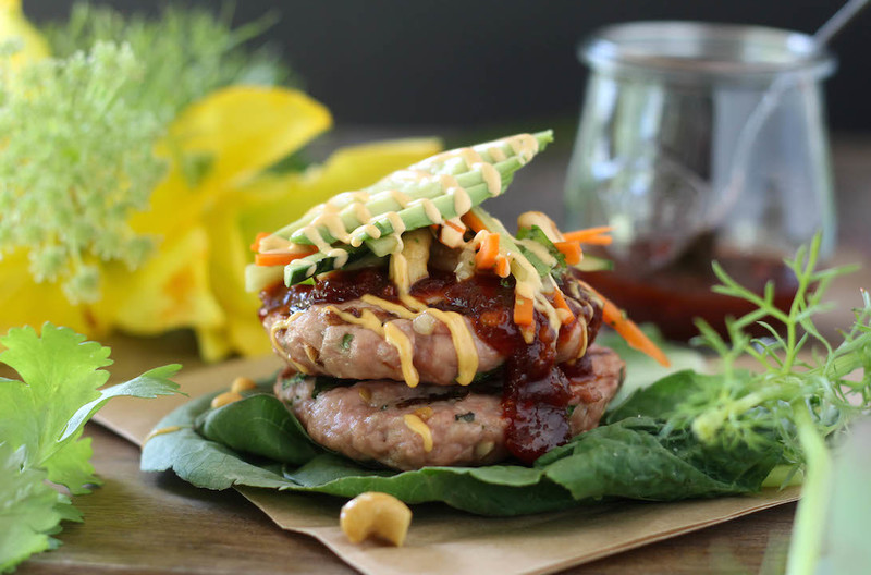 Thai Sweet Chili Sauce Pork Burgers