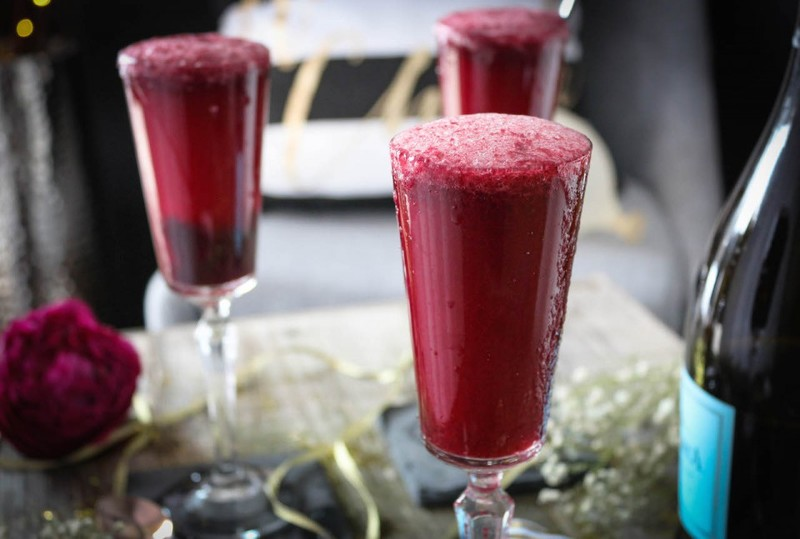 New Year's Eve Blackberry Bellini