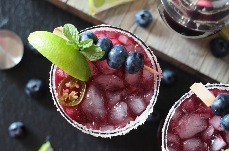Blueberry Jalapeno Margaritas