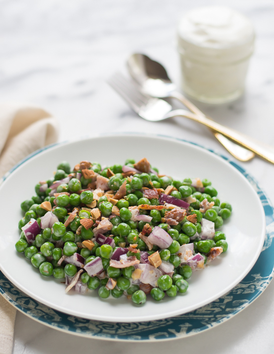 Green Pea Salad with Bacon and Almonds