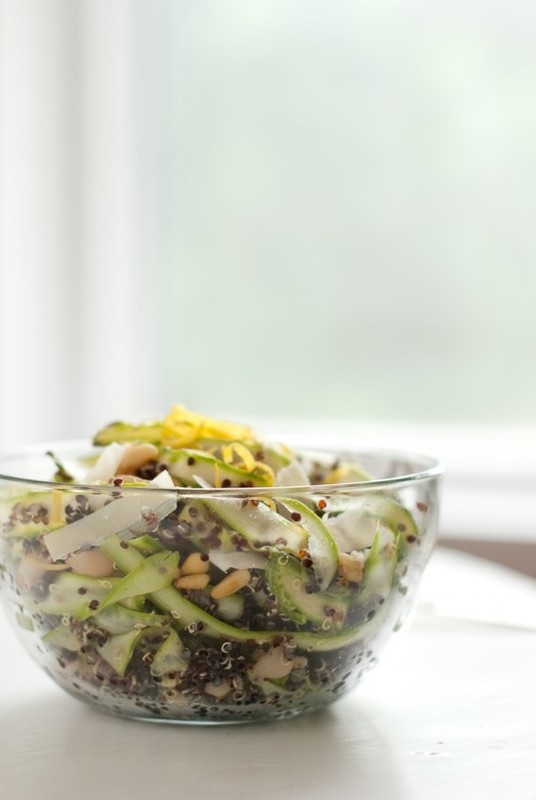 Ribboned Asparagus and Quinoa Salad