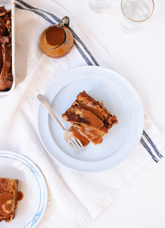 Banana Baked French Toast with Peanut Butter Drizzle