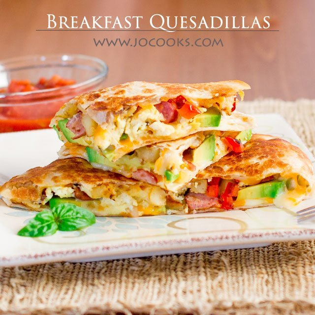 Caramelized Pineapple Chicken Quesadillas with Strawberry Salsa