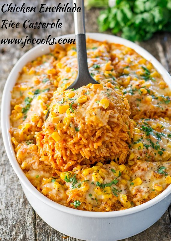 One Pot Chicken Sausage Rice Enchilada
