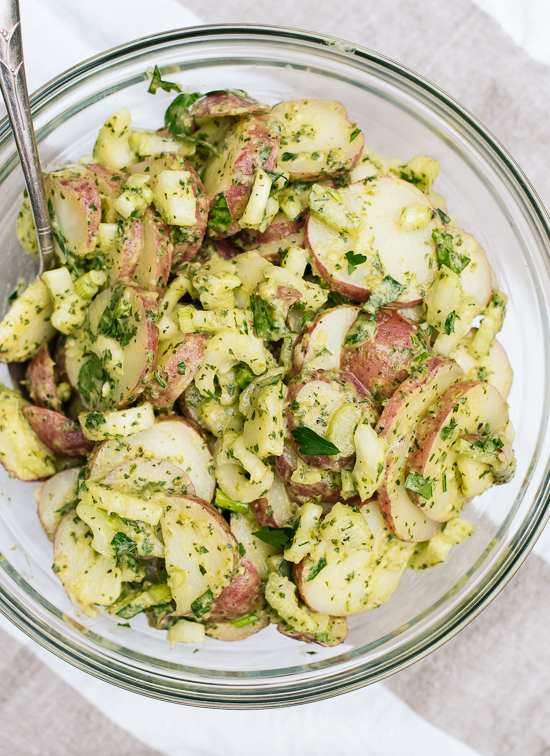 Herbed Red Potato Salad (no mayo!)
