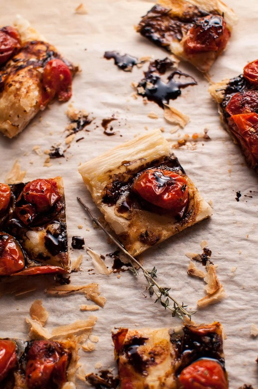 Roasted Tomato Puff Pastry Appetizer