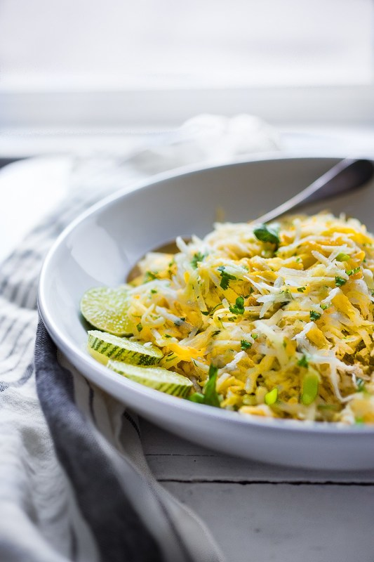 JICAMA MANGO SLAW WITH ORANGE AND LIME