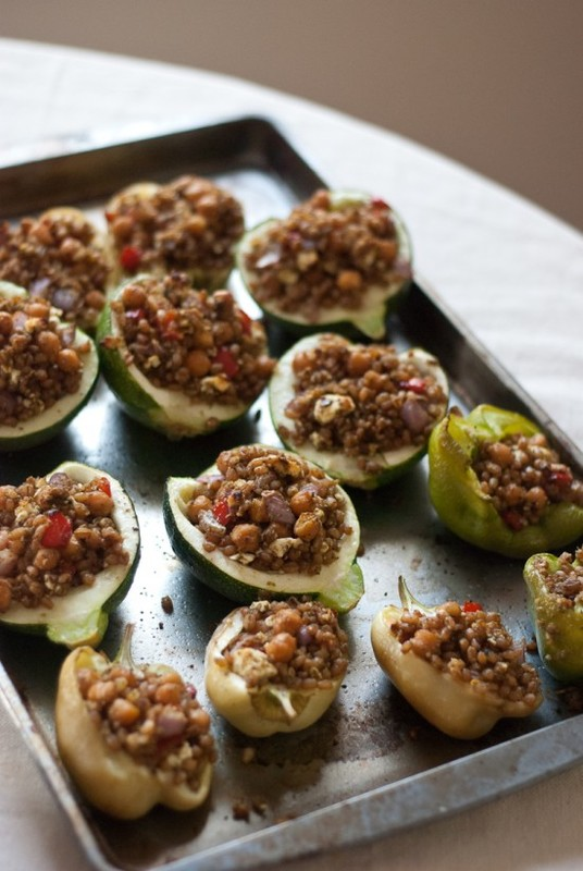 End of Summer Stuffed Vegetables