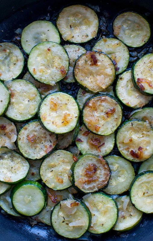 Zucchini with Onions