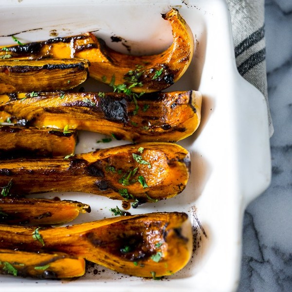 Roasted Butternut with Black Garlic and Miso