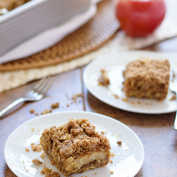 Caramel Apple Crisp Bars {Vegan!}