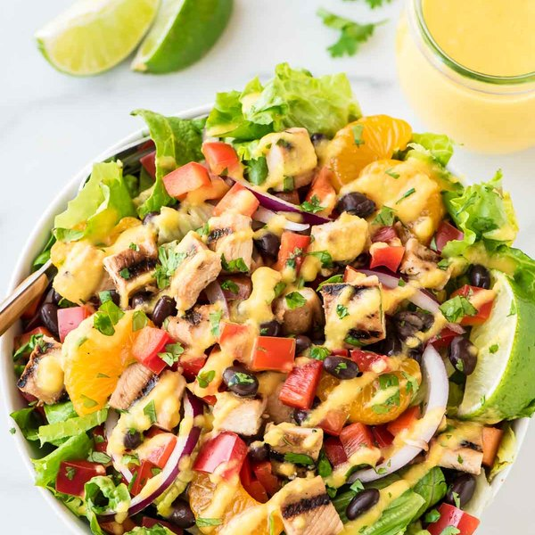 Caribbean Chicken Salad with Mango Dressing