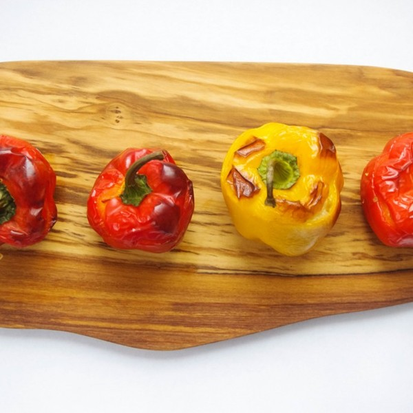 Cauliflower and Cheese Stuffed Bell Peppers