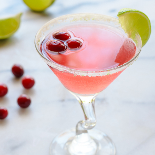 Cranberry St. Germain Cocktail