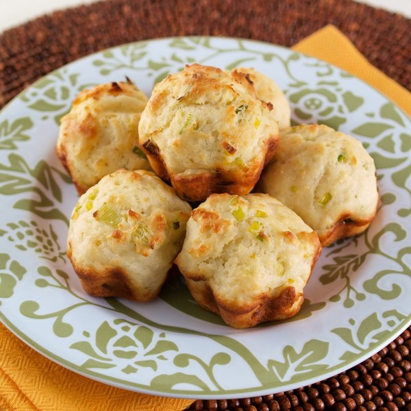 Goat Cheese and Leek Muffins from Moufflet
