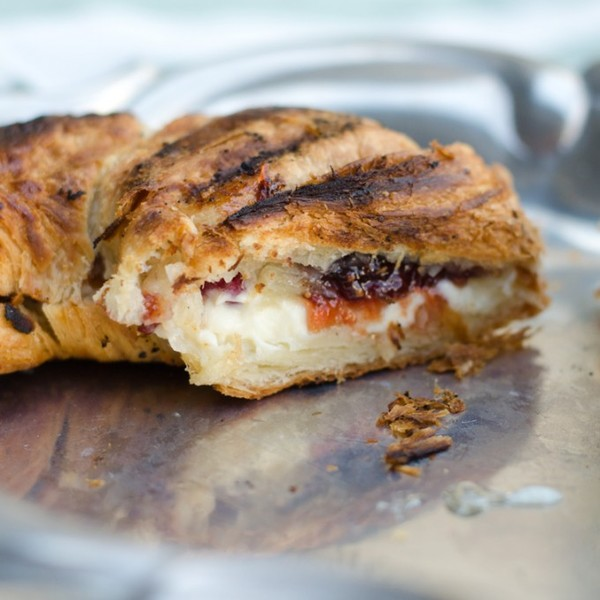 Grilled Mascarpone and Berry Croissant