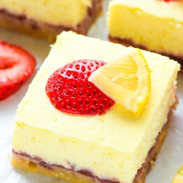 Strawberry Lemon Cream Cheese Bars