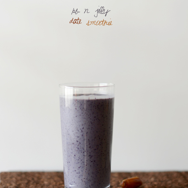 Peanut Butter & Jelly Date Smoothie
