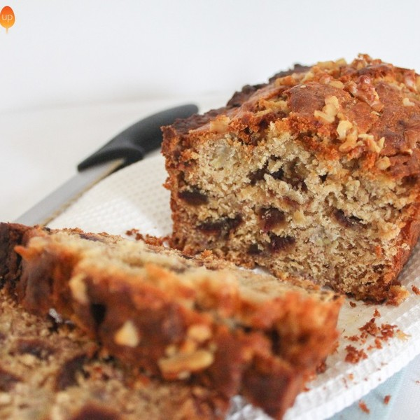 Sugar-Free Date, Honey and Walnut Loaf Cake