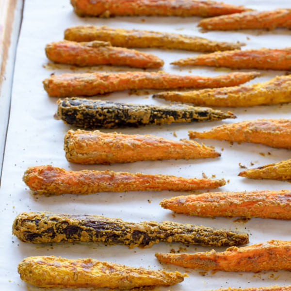 Tahini Roasted Carrots