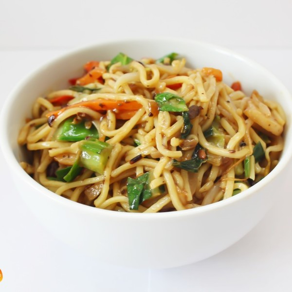 Vegetable Chow Mein with Black Bean Sauce