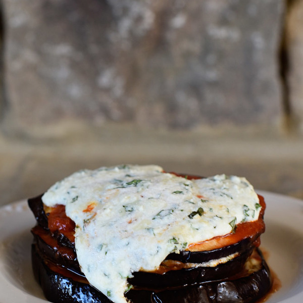 Baked Eggplant Parmesan Stacks Recipe