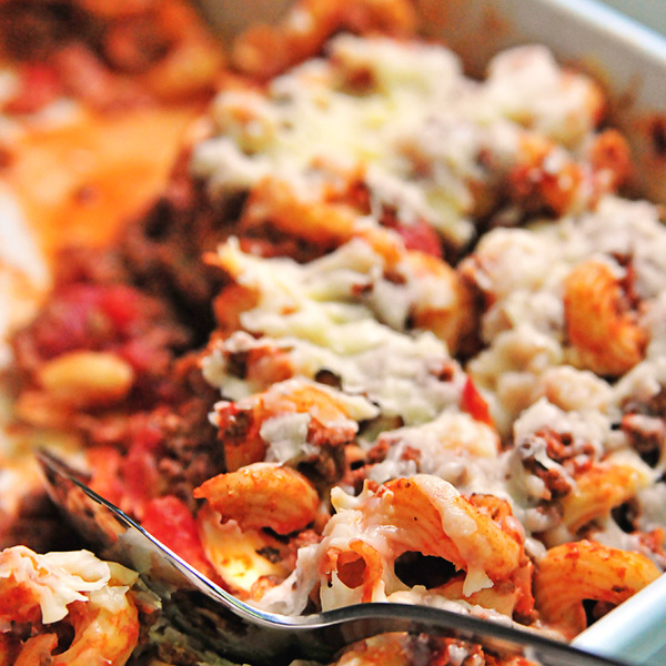 Baked Pasta with Spaghetti Sauce Recipe