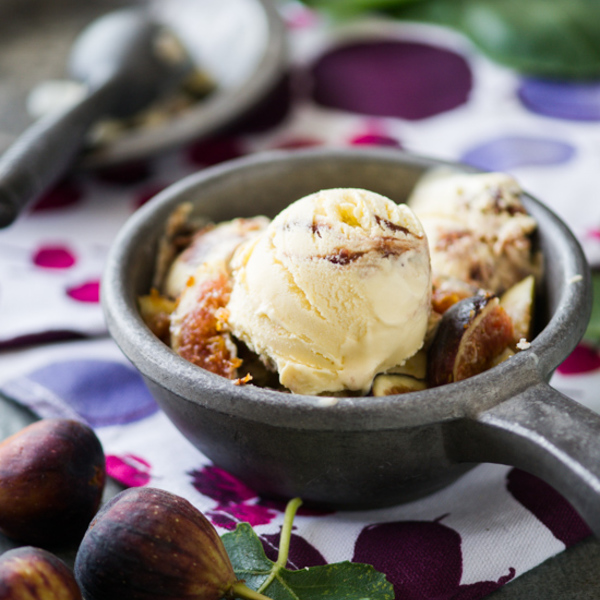 Roasted Fig & Goat Cheese Ice Cream