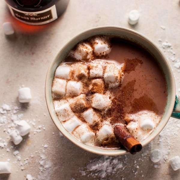 Orange Spiked Boozy Hot Chocolate