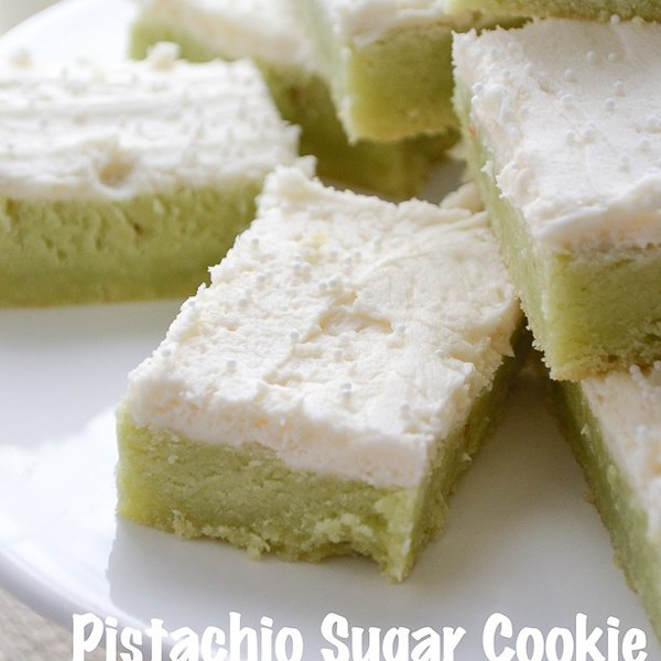 Pistachio Sugar Cookie Bars