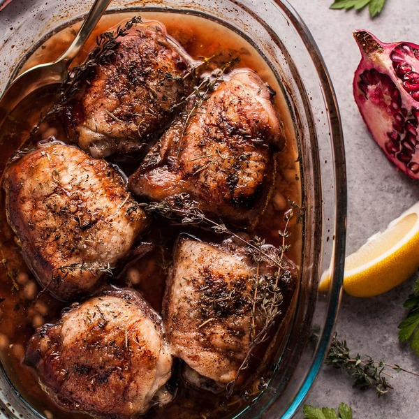 Pomegranate Lemon Roasted Chicken
