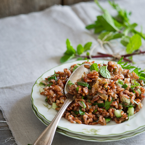 Red Rice Salad w/ Mint and Shallot Vinaigrette – A favorite whole grain
