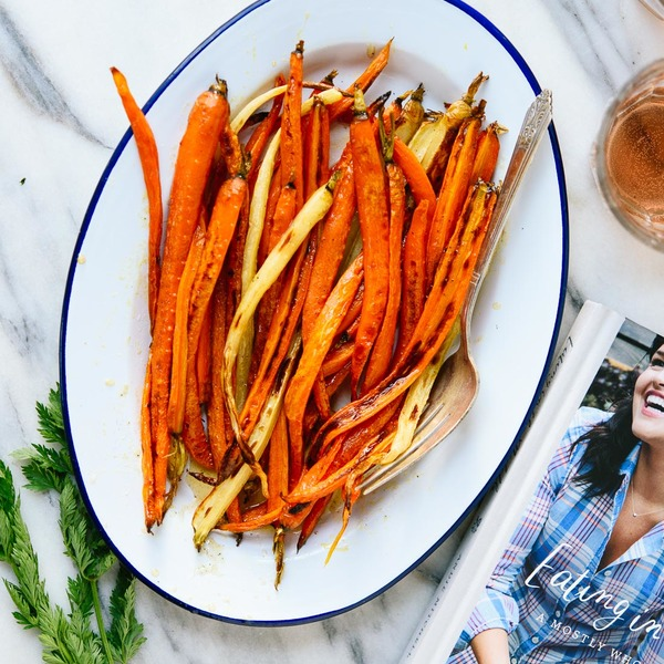 Roasted Carrots with Honey Butter from Eating in the Middle