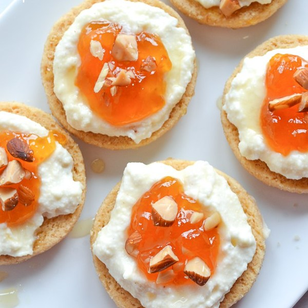 Apricot and Ricotta Shortbread Tarts