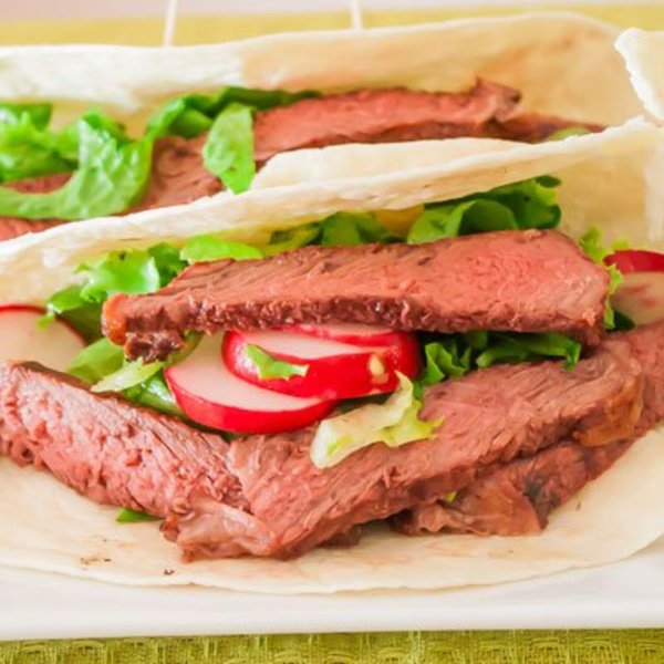 Steak and Salad Tacos