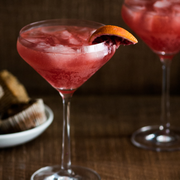 Blood Orange Sidecar Cocktail