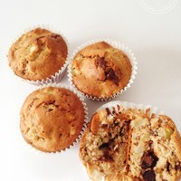 Apple, Chocolate and Cinnamon Muffins