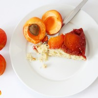 Apricot & Raspberry Upside-Down Cake
