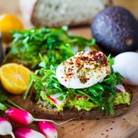 Avocado Toast with Poached Eggs and Zaatar