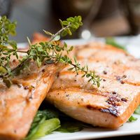 Grilled Maple-Mustard Salmon