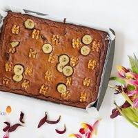 Banana & Walnut Brownies