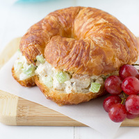 Chicken Salad Sandwich with Kohlrabi