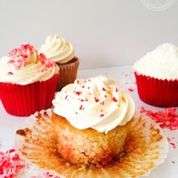 Coconut and Peppermint Cupcakes