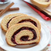 Cranberry Orange Cinnamon Swirl Bread