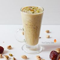 Date and Pistachio Milkshake