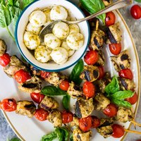 Grilled Pesto Chicken Skewers